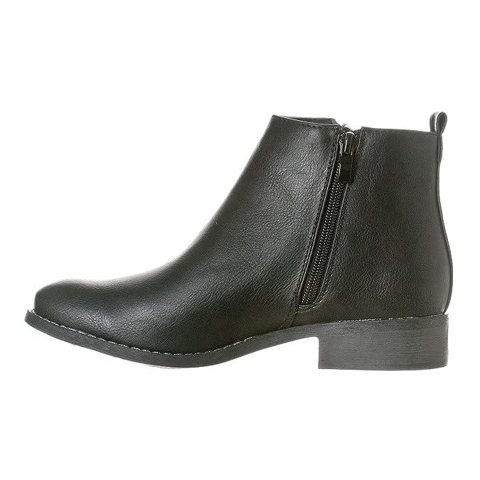 99ba737089 Amazon.com   Riverberry Women's Avery Low-Heel Zip-Up Ankle Booties Boots    Ankle & Bootie