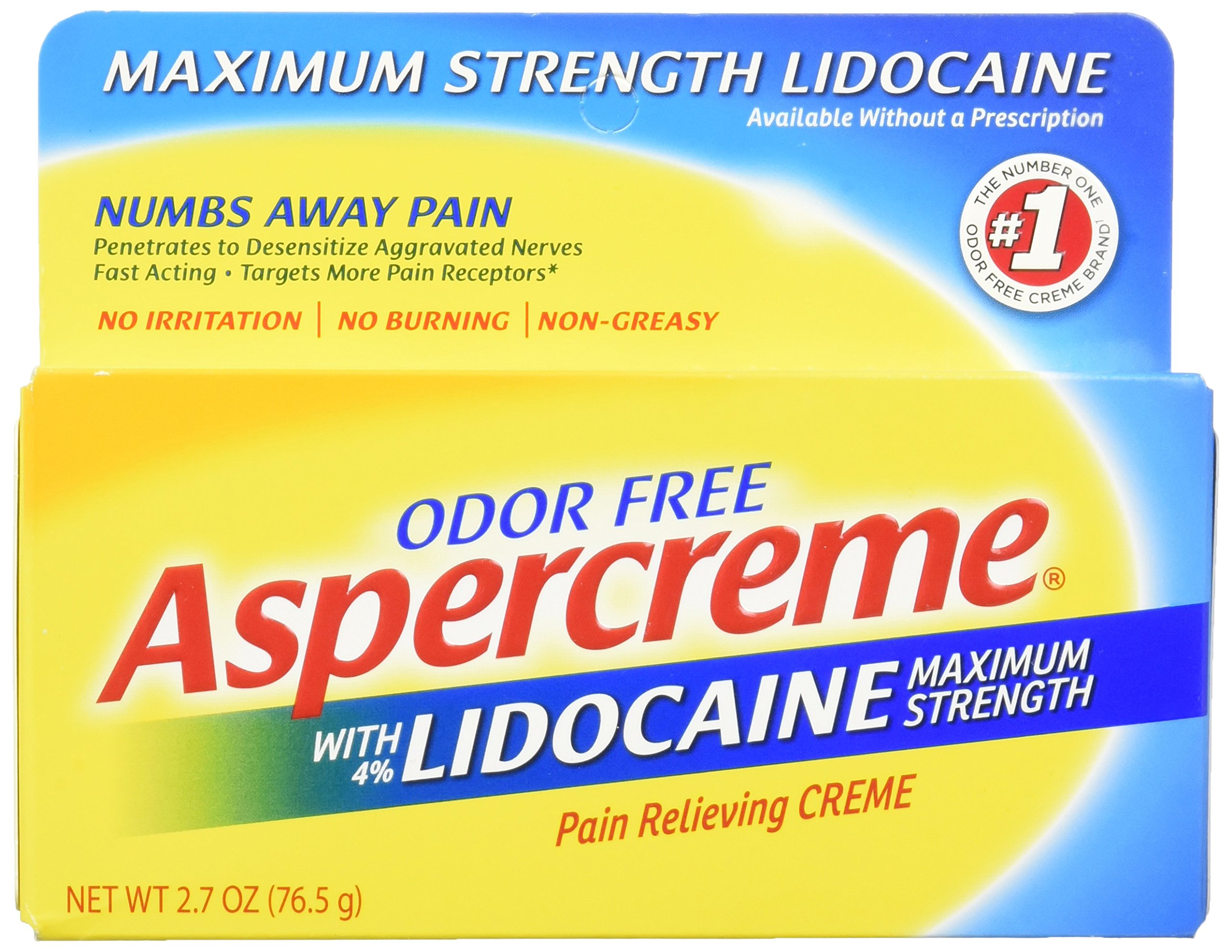 Aspercreme with Lidocaine, 2.7 Ounce (Pack of 3) by Aspercreme