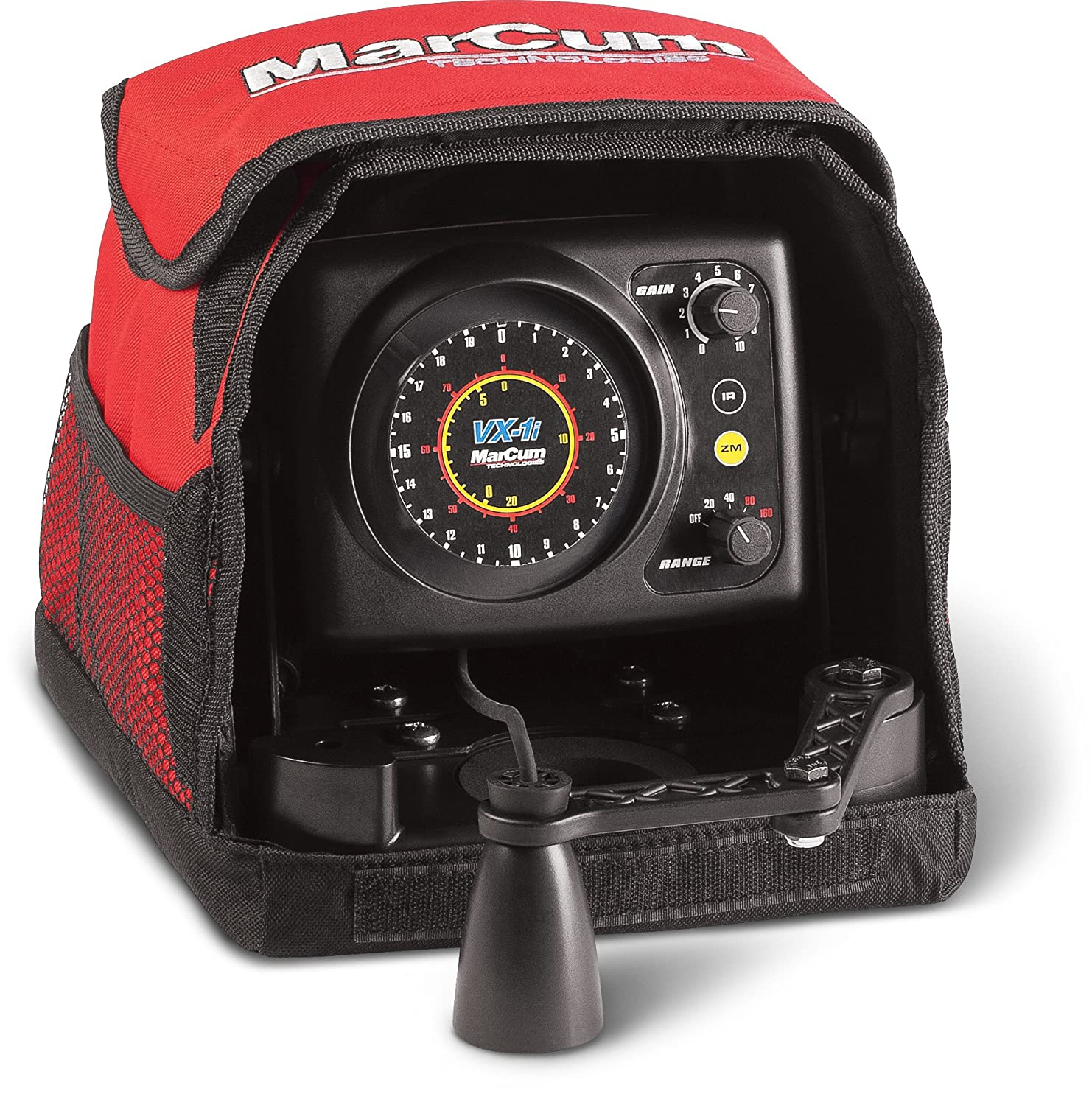 Marcum VX-1i Sonar Flasher System, Red/Black