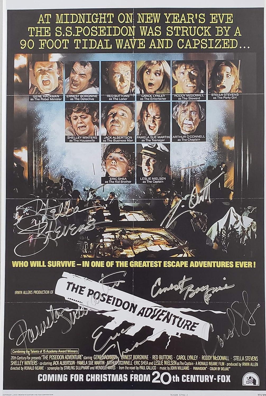 Poseidon Adventure Cast Of 6 Original Autographed 8x10