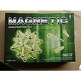 Toyshine 60 Pcs Glow in Dark Magnetic Blocks, Magnetic Tiles Building Blocks Magnetic Construction Set Educational Stacking Toys