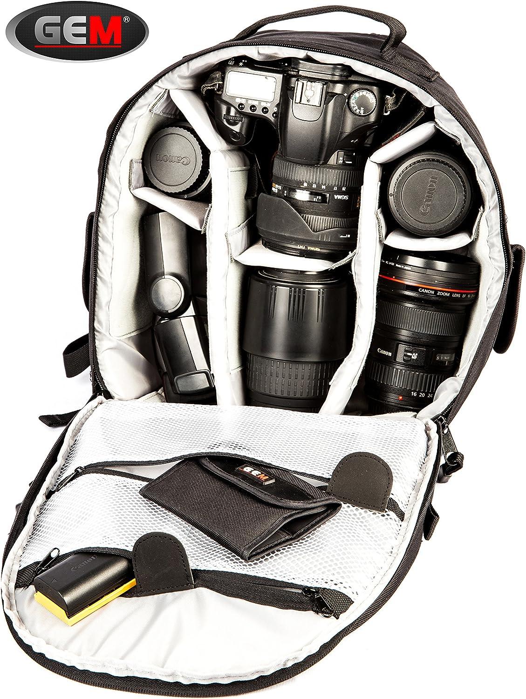 Rebel T6 und 3-5 Objektive Gem Professionelle Kameratasche // Rucksack mit wasserdichter Abdeckung f/ür Canon EOS 80D 1300D