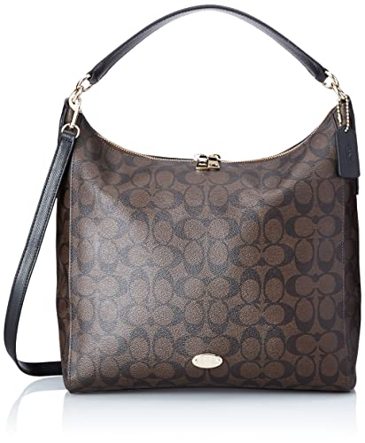 Amazon.com: Coach Signature Celeste Convertible Hobo - Brown/Black ...