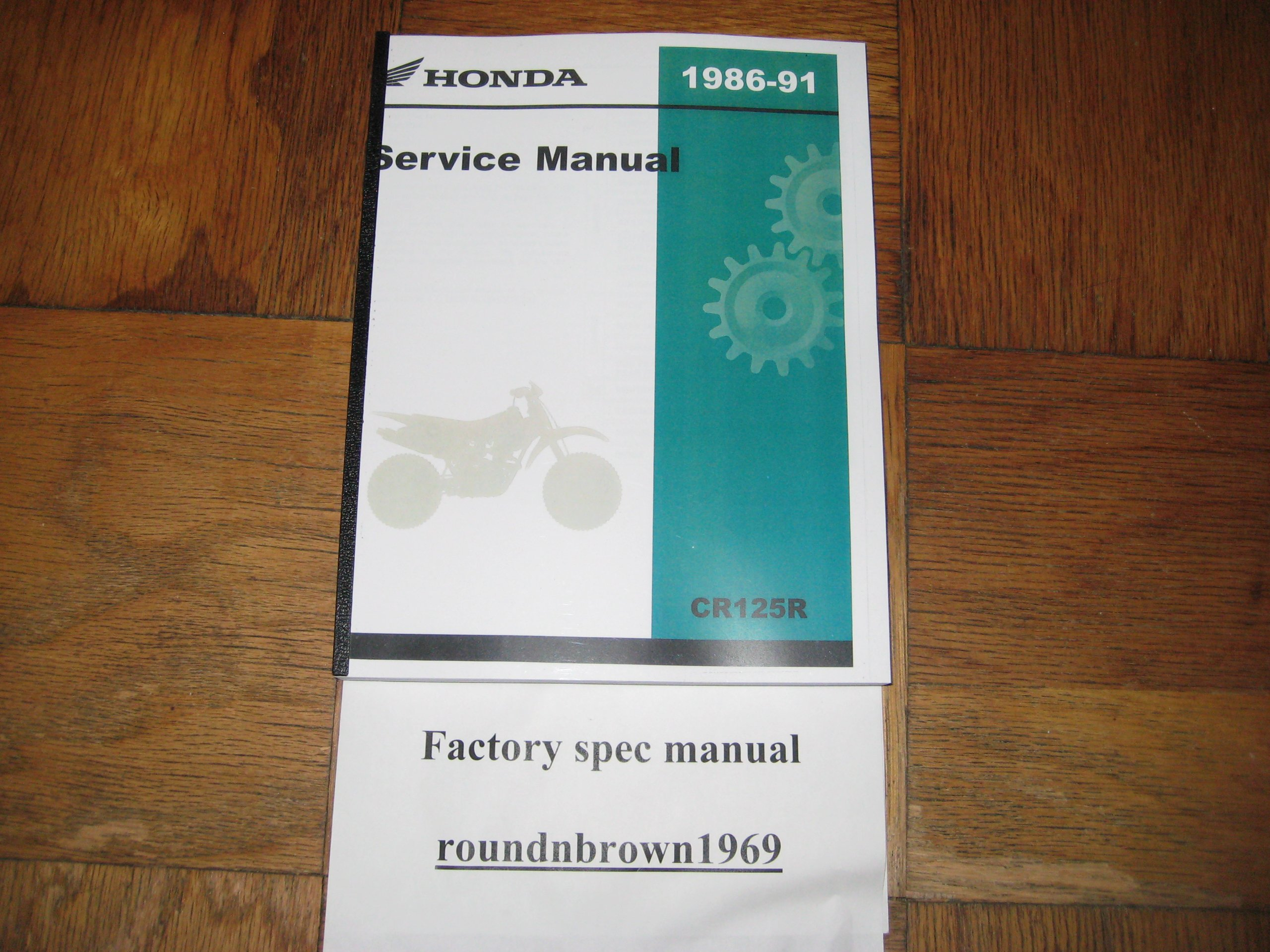 1986-1991 Honda CR125R CR125 R CR 125R Service Manual Book Part# 61KS605:  HMC: Amazon.com: Books