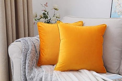 Amazon.com: Pack de 2 fundas de almohada decorativas de ...
