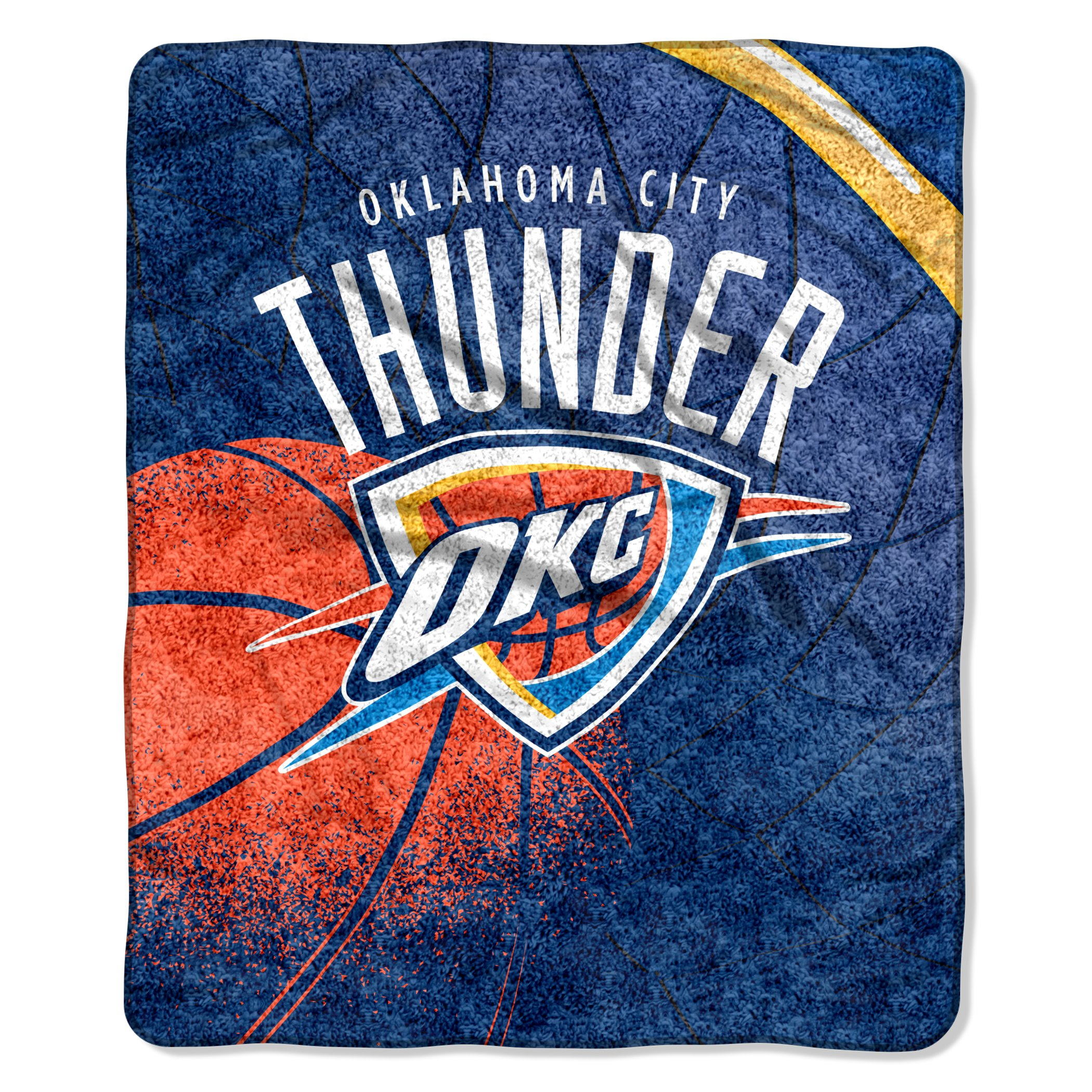 The Northwest Company Officially Licensed NBA Oklahoma City Thunder Reflect Sherpa on Sherpa Throw Blanket, 50'' x 60''