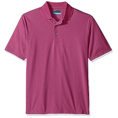 PGA TOUR Men's Short Sleeve Essential Solid Polo