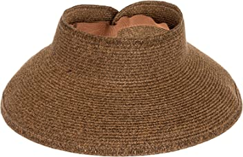 San Diego Hat Company UPF 50+ Roll Up Wide Brim Sun Visor Hat - Ultra 8cb04d49e882