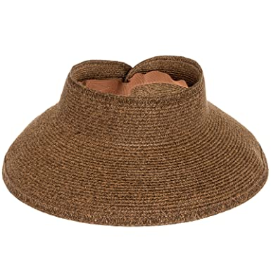 6933cb8cf2face San Diego Hat Company Ultrabraid Sun Visor Hat w/Natural Brim (Mixed  Chocolate)