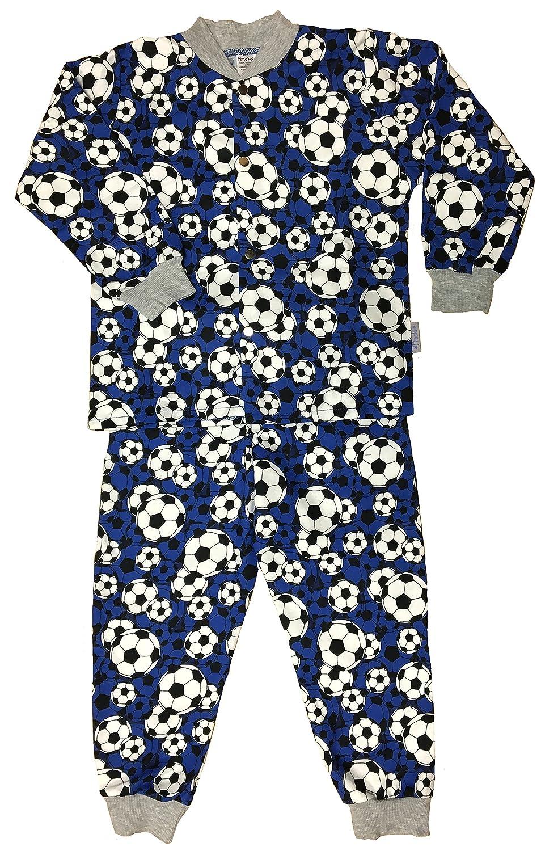 Snoozers 100/% Cotton Flannel Boys Soccer Print Pajama Set