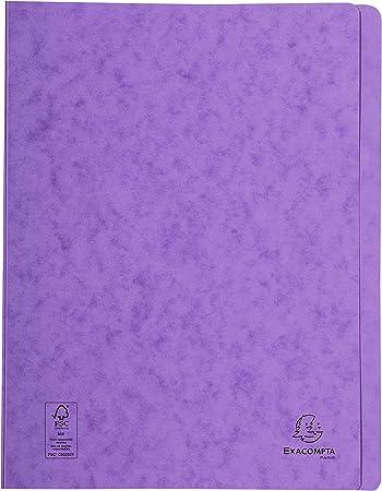 violett Karton DIN A4 EXACOMPTA Schnellhefter Iderama