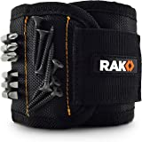 RAK Magnetic Wristband with Strong Magnets for Holding Screws, Nails, Drill Bits - Best Unique Tool Gift for Men, DIY…