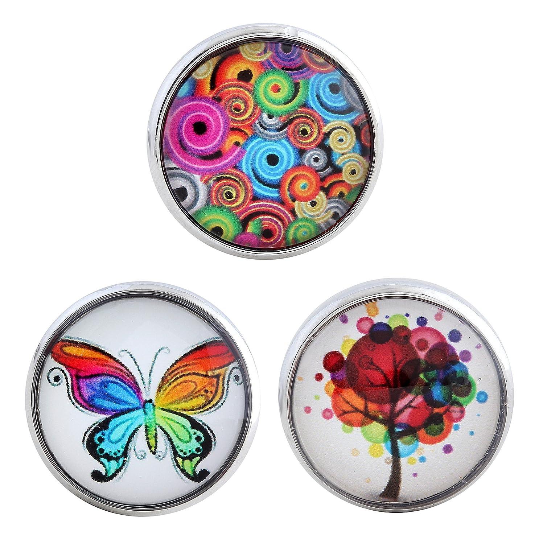 Morella reg; Click-Button Lot de 3boutons pression pour bijoux pour femme Motifs floraux Tradict GmbH EP10.EP05.EP01