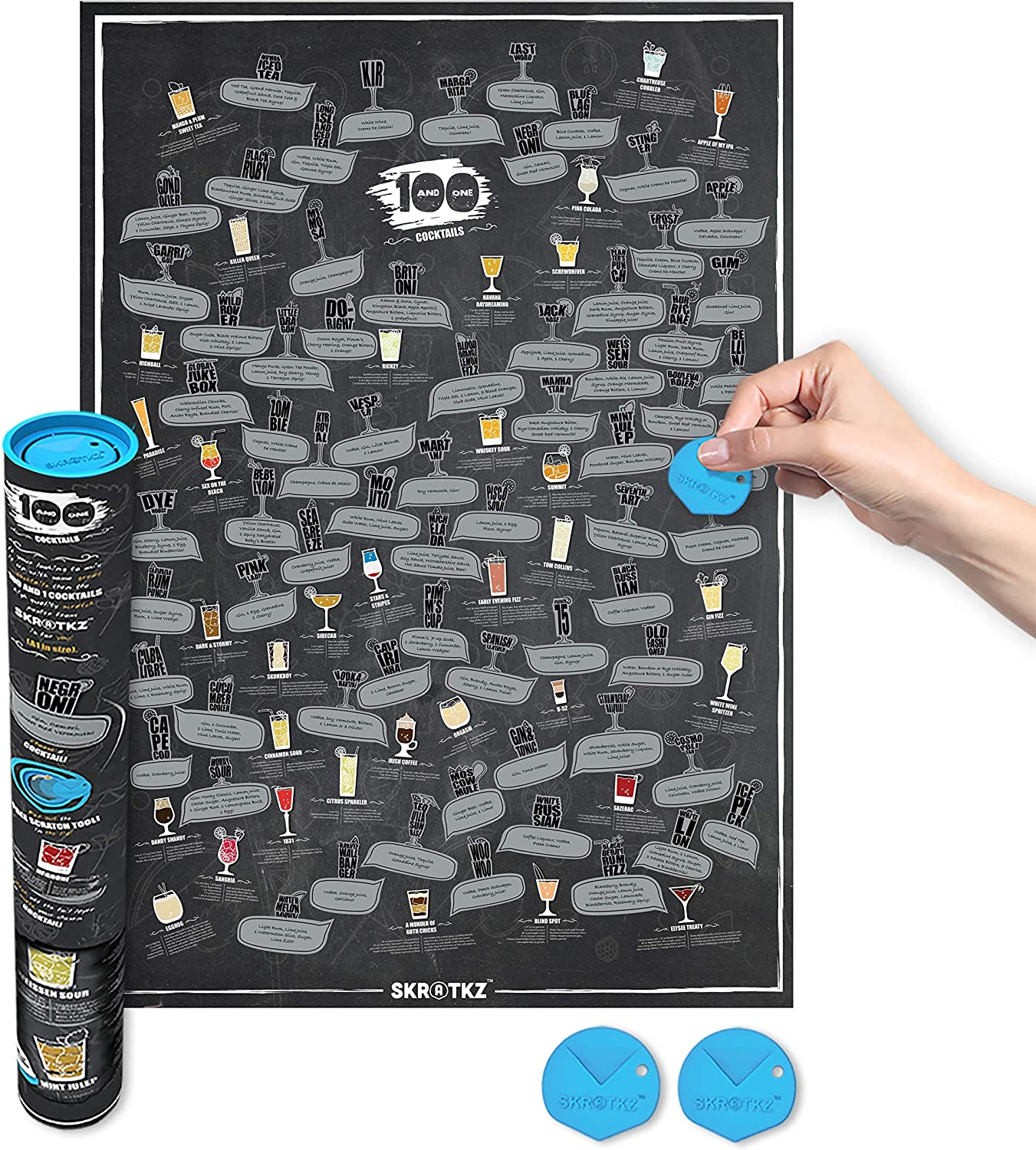 """/""""Scratch Off Poster/"""" for Students Skratkz 101 Things To Do Before You Graduate"""