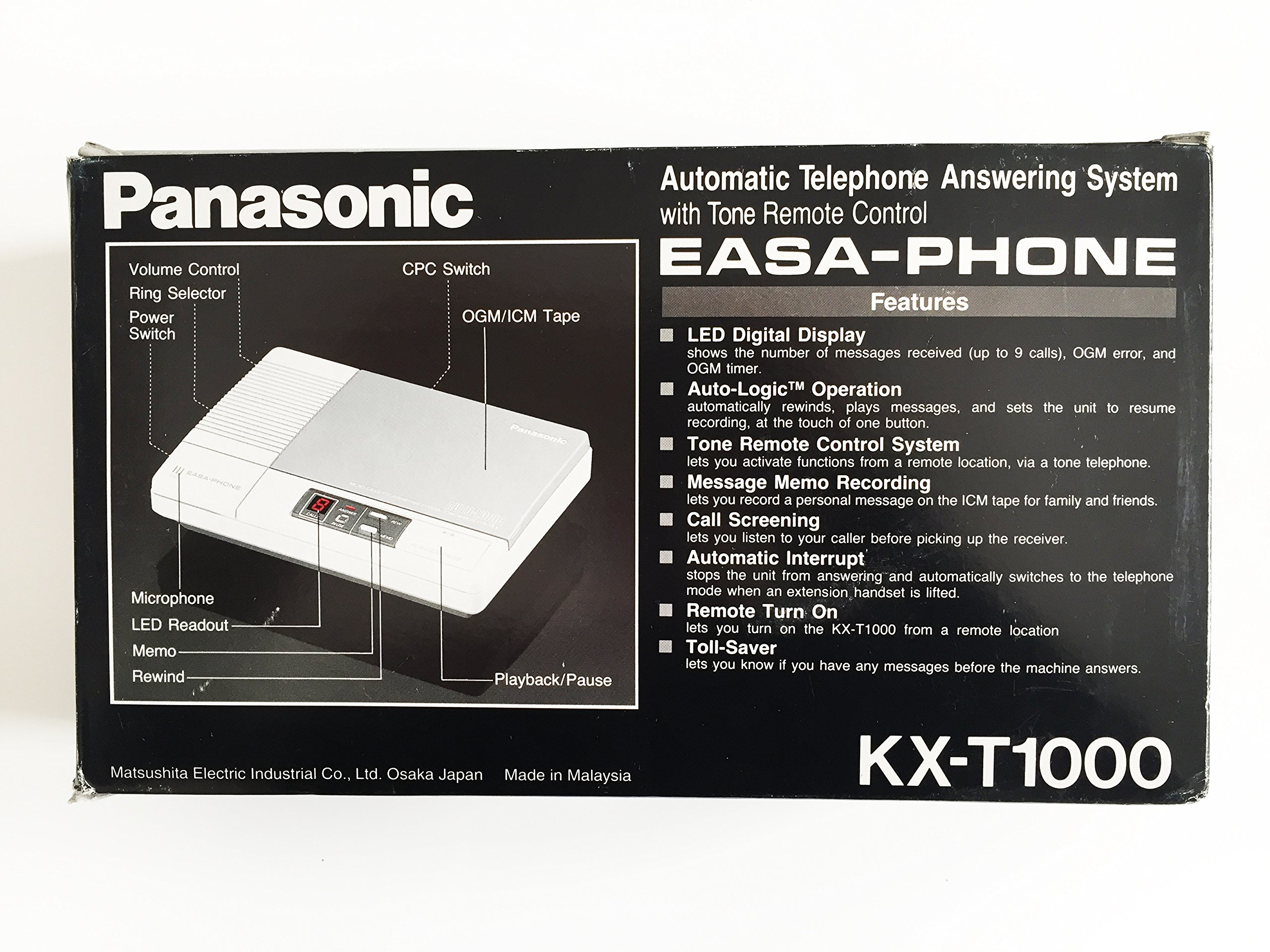 Panasonic Easa-Phone Cassette Tape Answering Machine