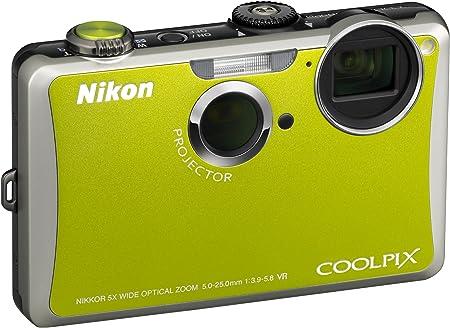 Nikon Coolpix S1100pj Digitalkamera 3 Zoll Grün Kamera