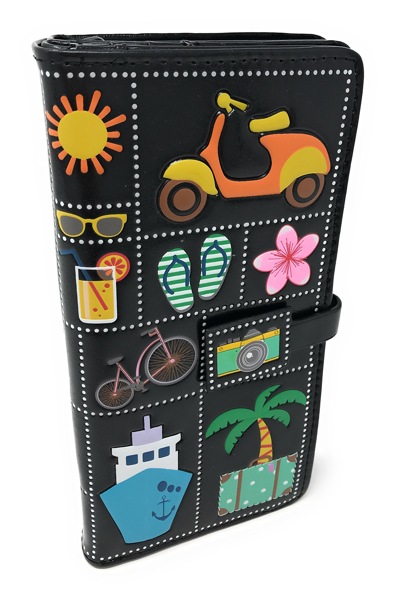 Summer Icons Wallet Black