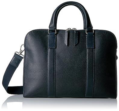 Amazon.com: Fossil Men's Mayfair Leather Double Zip Workbag, Navy ...