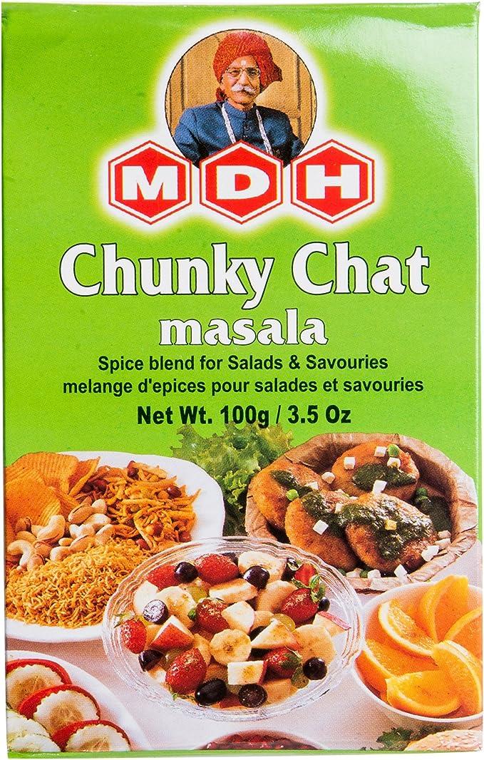 Amazon | MDH チャットマサラ 100g 1箱 Chunky Chat masala スパイス ...