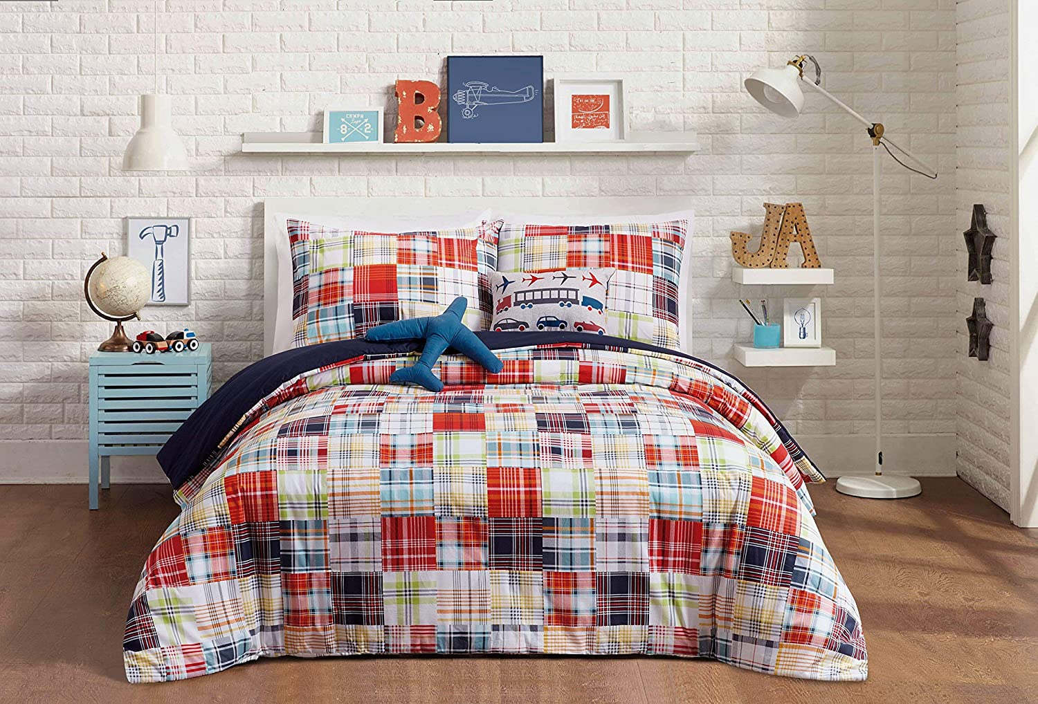 Urban Playground A011017BLEDS Bryce Comforter Set, Full/Queen, 5 Piece