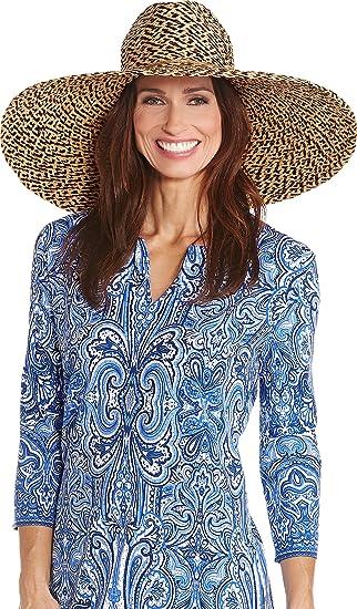 Coolibar UPF 50+ Women s Wide Brim Sun Hat - Sun Protective (One Size- 7e025dbca24b