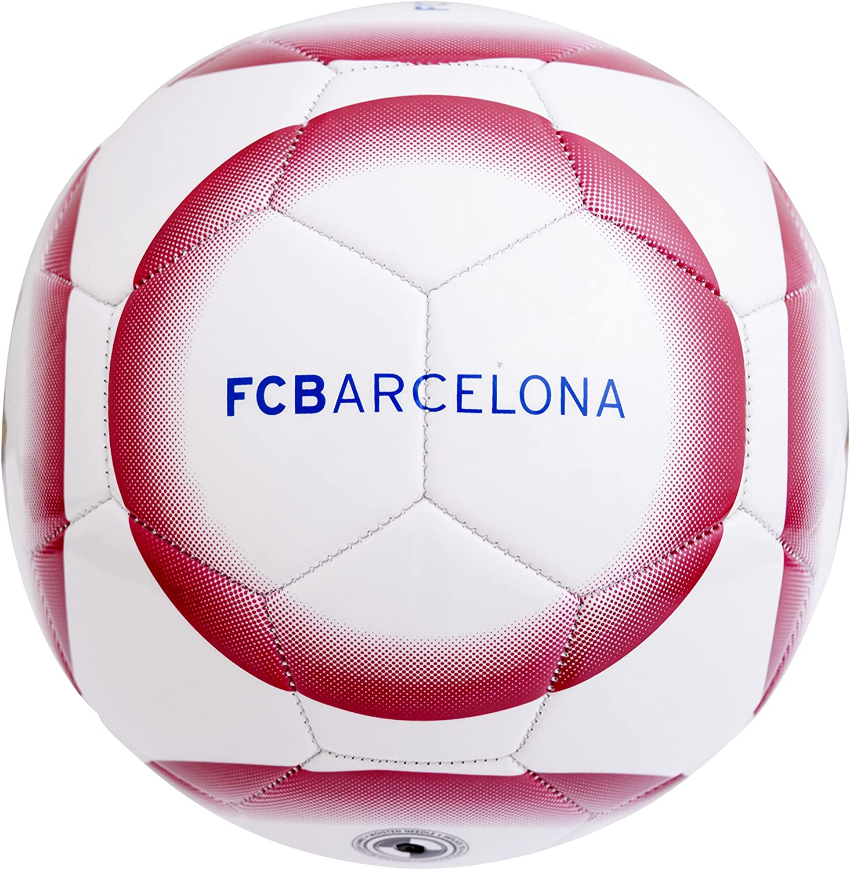 Barcelona F.C. 26 Panel Crest Balón de fútbol, Niños, Blanco ...