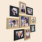 "Ajanta Royal Set of 9 Individual Photo Frames (6-5""x7"", 2-5""x5"", 1-8""x10"" Inch) : A-90MI (Maroon-Ivory)"