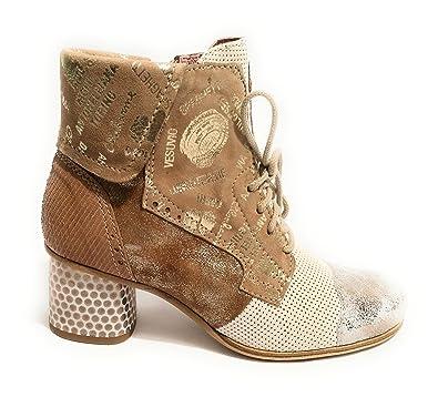 Damen Sneaker Marrone/Beige/Bianco/Silver, Marrone/Beige/Bianco/Silver - Größe: 36 EU Clocharme