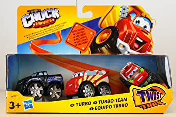 Hasbro - Tonka Chuck & Friends - DieCast - Paquete de 3 - Equipo de Turbo