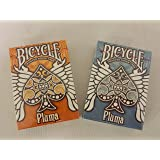 BICYCLE ORANGE AND BLUE PLUMA PLAYING CARDS 2 DECK SET