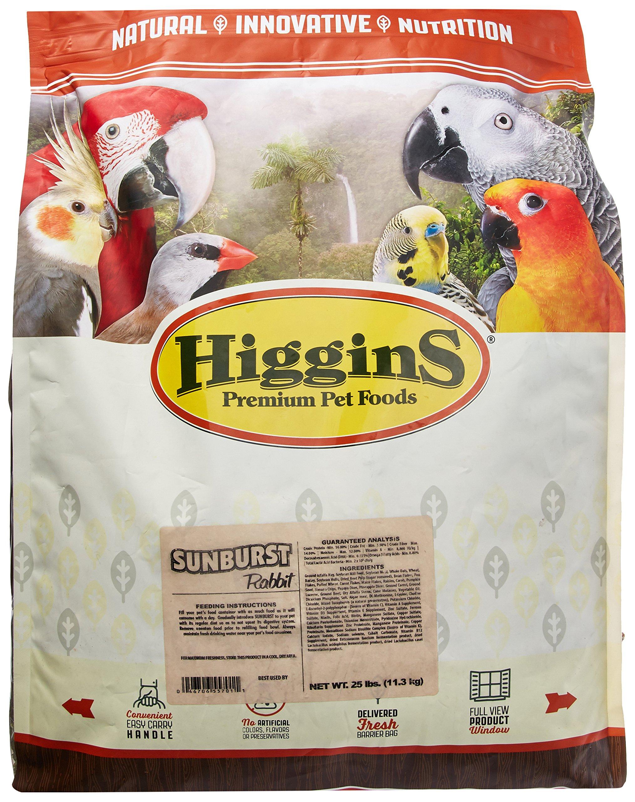 Higgins 466904 Higg Sunburst Rabbit Food, 25-Pound by Higgins