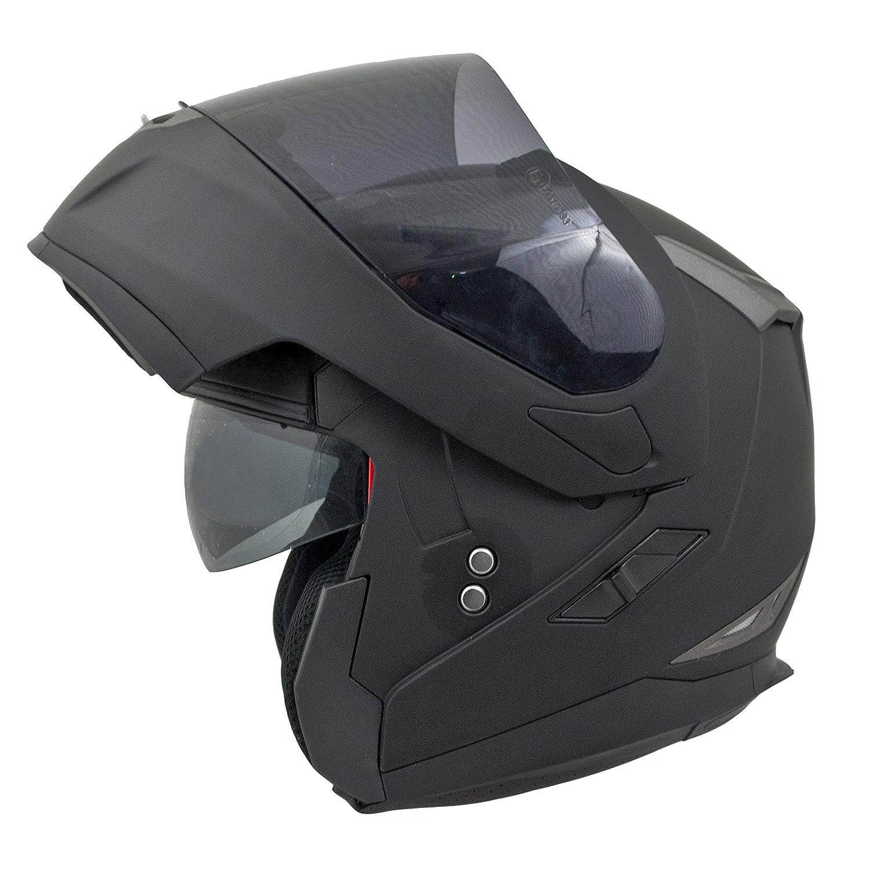 MT Flux Motorbike Motorcycle Flip Up Front DVS Helmet Matt Black XXL(63-64cm) Touch Global Ltd