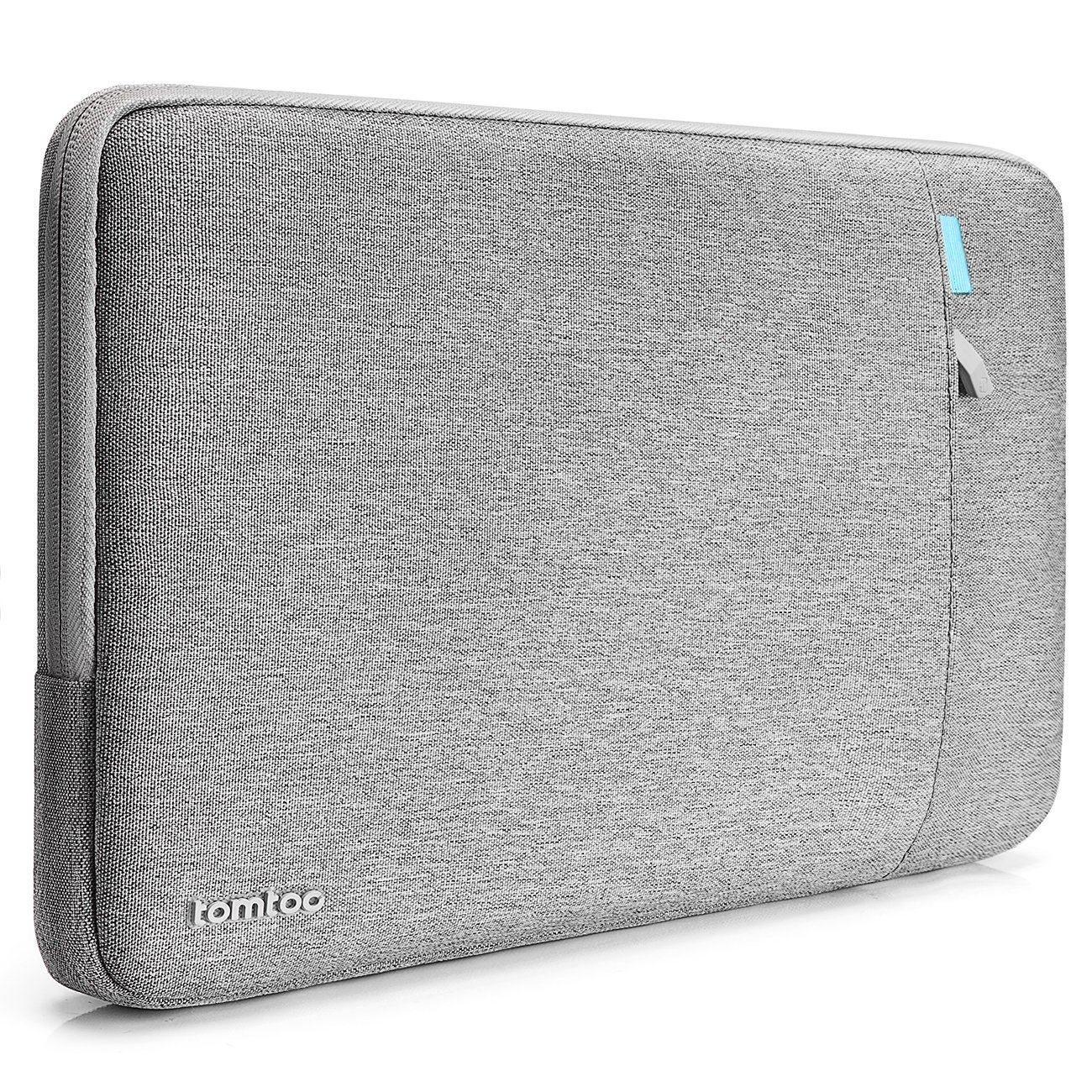 Tomtoc 360° Protective Sleeve for 15 Inch New MacBook Pro with Touch Bar A1707 | 14 Inch ThinkPad Laptop, Shockproof Spill-Resistant Laptop Tablet Bag, Support up to 13.75 x 9.48 In, Gray
