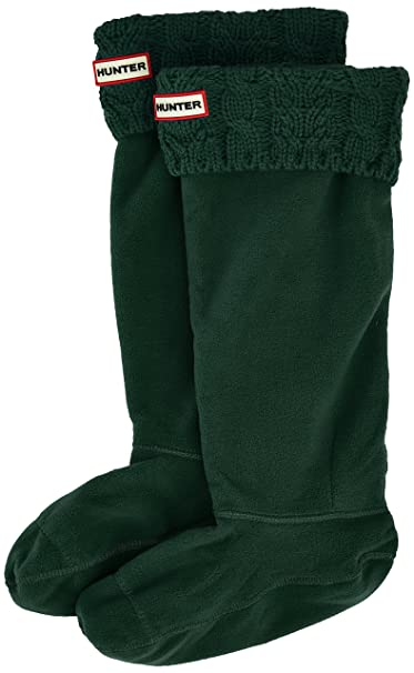 Hunter Calcetines Dual Cable Knit Bts Verde Oscuro EU 36/38 (UK 3/