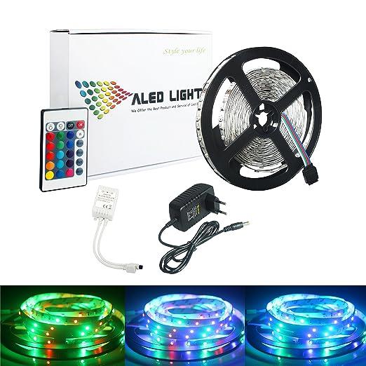 125 opinioni per ALED LIGHT® Striscia LED 5M RGB 300 LED 3528 SMD LED Strip Con 2A 12V Adattatore