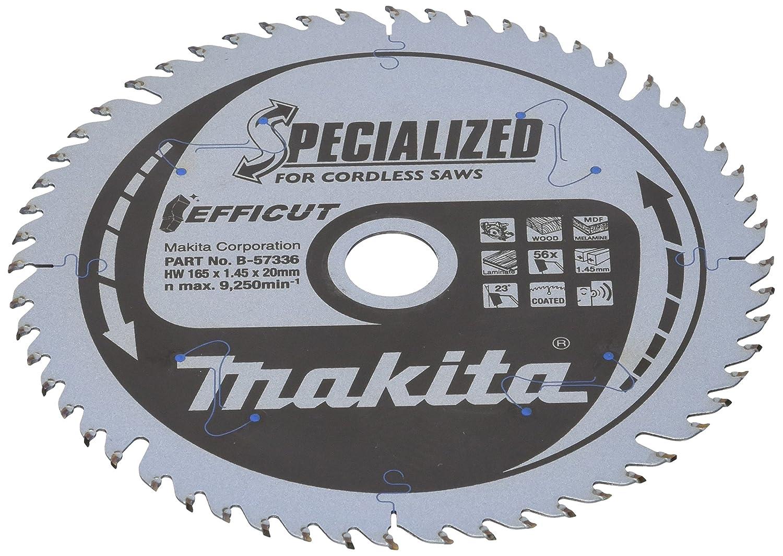 Makita B de scie 57336specialized, 56Dents, 1V, argent, 165x 20mm