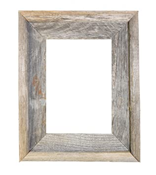 8x10 2 wide signature reclaimed rustic barnwood open frame no glass