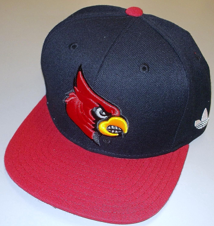 adidas Louisville Cardinals Retro Snap Back Flat Bill Hat NF80Z