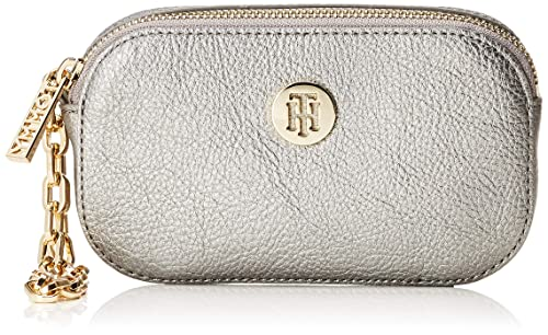 Tommy Hilfiger - Th Core Pouch W/Wristlet, Carteras Mujer, Plateado (Pewter), 1x1x1 cm (B x H T): Amazon.es: Zapatos y complementos