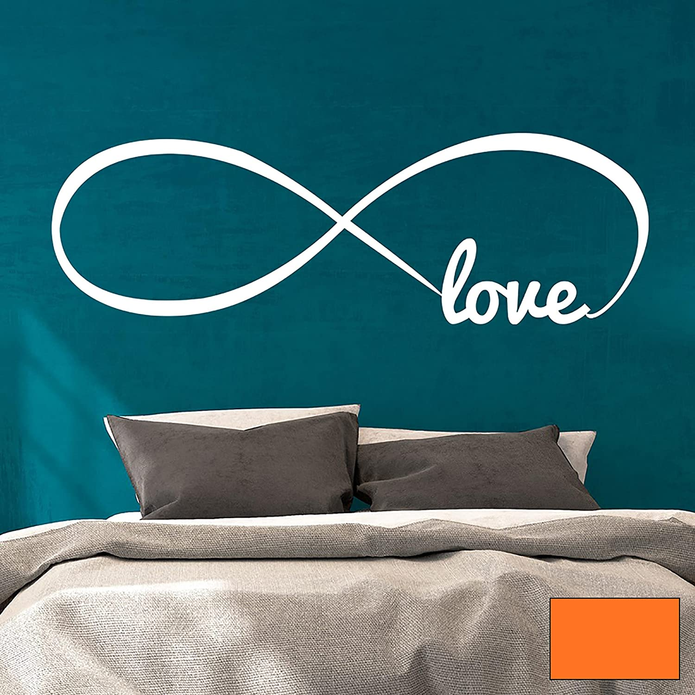 Wandtattoo Wandaufkleber endlose Liebe Unendlichkeit Symbol Infinity Love M1764 - ausgewählte Farbe  Schwarz - ausgewählte Größe  XXL - 140cm breit x 45cm hoch B01BMK8UGM Wandtattoos & Wandbilder