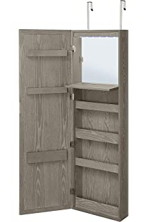 Exceptionnel Abington Lane Wall Mounted Over The Door Makeup Organizer Beauty Armoire  LED Lights Stowaway Mirror (