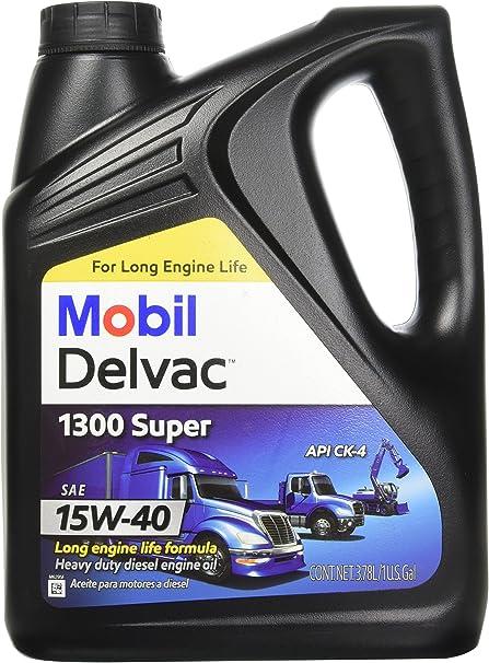 Mobil 1 112786 15W-40 Delvac 1300 Super Motor Oil - 1 Gallon by ...