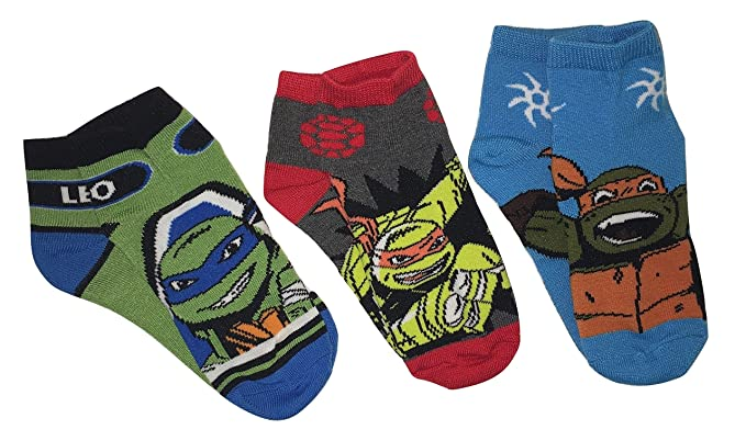 Nickelodeon Teenage Mutant Ninja Turtles Youth Ankle Socks - 3 Pair, Size 6-8