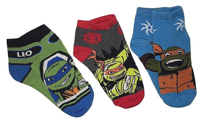 Nickelodeon Teenage Mutant Ninja Turtles Youth Ankle Socks - 3 Pair, Size 6-8