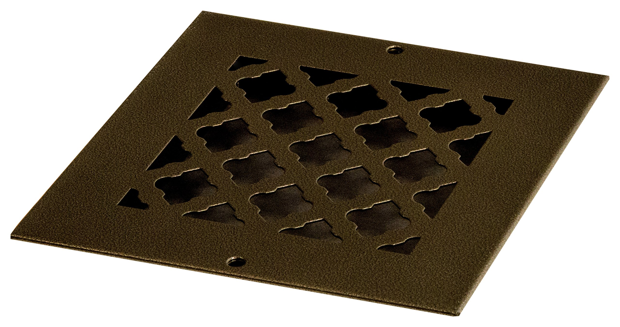 SteelCrest BTU6X6RORBH Bronze Series Designer Wall/Ceiling Vent Cover, with mounting Screws, Oil Rubbed