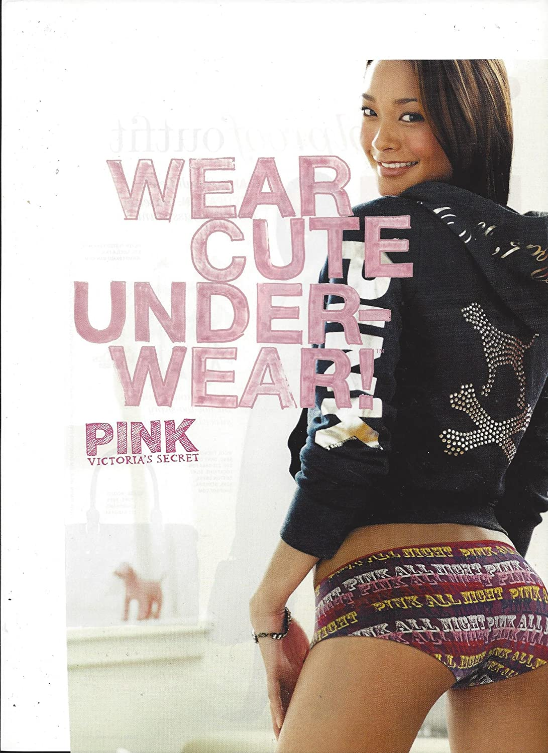 PRINT AD For 2006 Victoria's Secret Pink Wear Cute Underwear Pink All Night