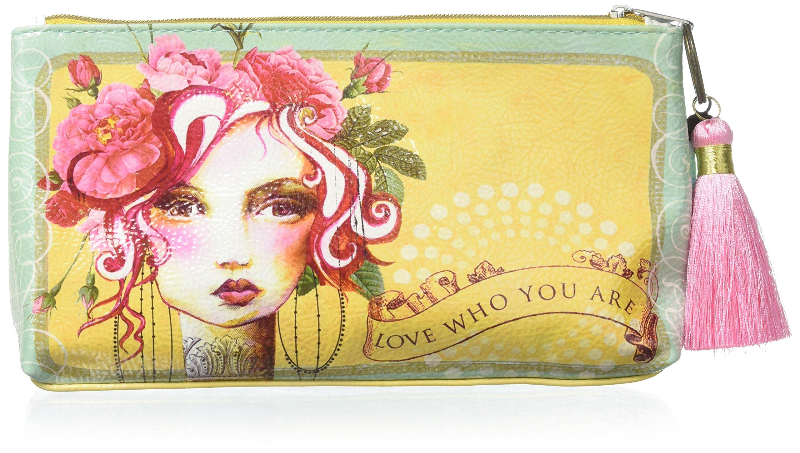Papaya Art Rose Small Tassel Pouch