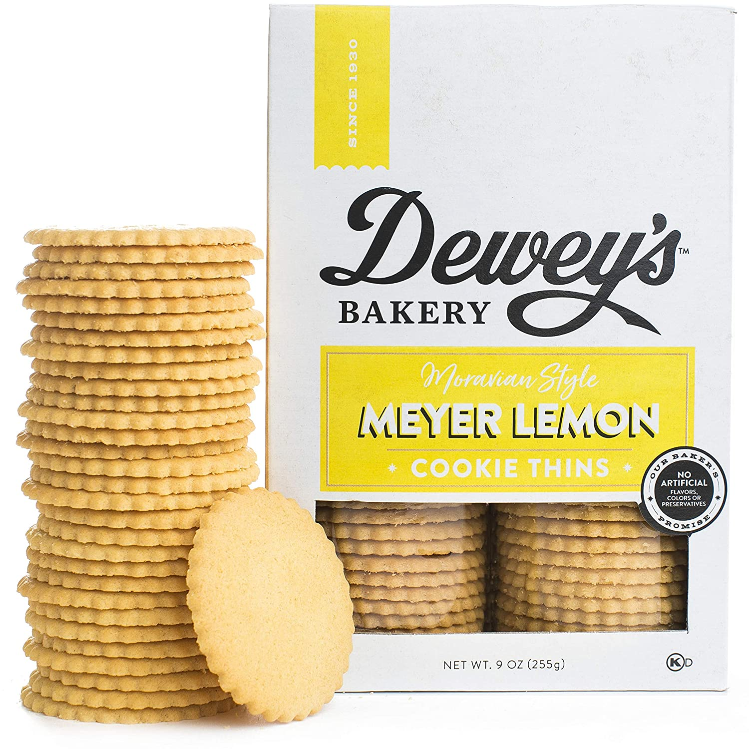 Dewey S Bakery Meyer Lemon Moravian Style Cookie Thins Baked In Small Batches Real Simple