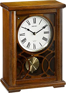 Dark brown mantel clocks