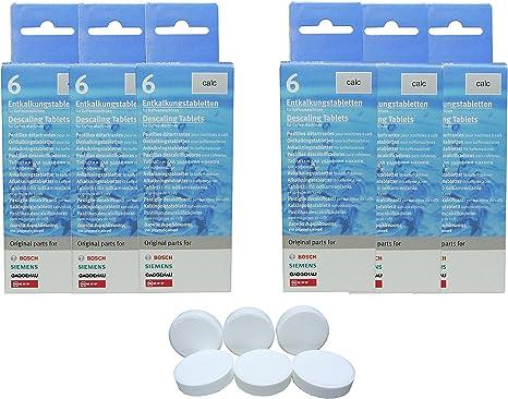6X Bosch Siemens Pastillas descalcificadoras Descalcificador Tassimo BSH 310967 311555: Amazon.es: Hogar